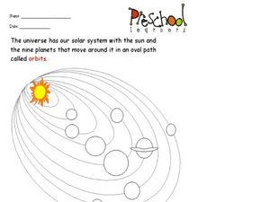 Sun and Planet Orbits Worksheet