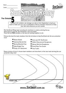 Sun Smart Relay Lesson Plan
