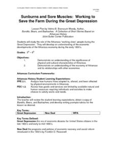 Sunburns and Sore Muscles: Working to Save the Farm During the Great Depression Lesson Plan