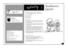 Sunflower Jigsaw Lesson Plan