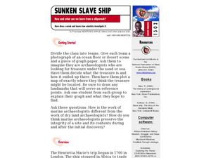 Sunken Slave Ship Lesson Plan