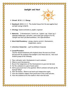 Sunlight and Heat Lesson Plan