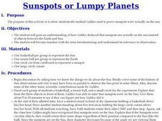 Sunspots or Lumpy Planets Lesson Plan