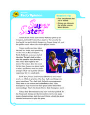 Super Sisters Worksheet