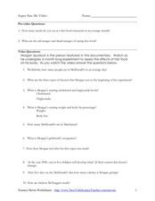 Worksheet Supersize Me Worksheet Answers super size me video 5th 12th grade worksheet lesson planet worksheet