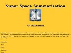 Super Space Summarization Lesson Plan
