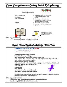 Super Star Nutrition Cooking And Exercises Worksheet