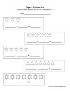 Super Subtraction Worksheet