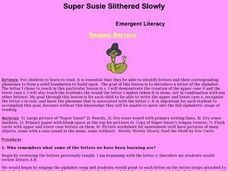 Super Susie Slithered Slowly Lesson Plan