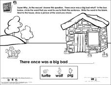 Super Why to the Rescue- Fill in the Sentence Worksheet