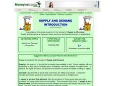 Supply and Demand Introduction Lesson Plan