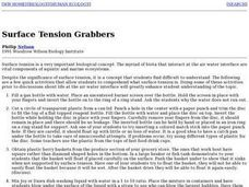 Surface Tension Grabbers Lesson Plan
