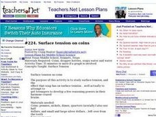 Surface Tension On Coins Lesson Plan