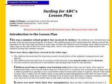 Surfing for ABC's Lesson Plan