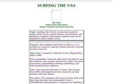 Surfing the USA Lesson Plan