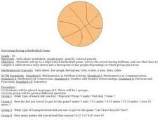 Surveying During a Basketball Game Lesson Plan