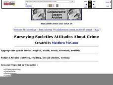 Surveying Society's Attitudes About Crime Lesson Plan
