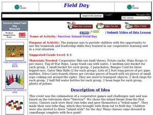 Survivor Island Field Day Lesson Plan