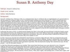 Susan B. Anthony Day Lesson Plan