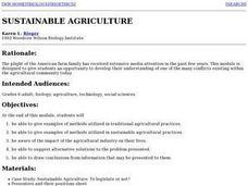 Sustainable Agriculture Lesson Plan