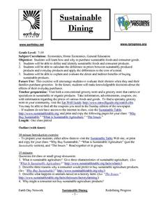 Sustainable Dining Lesson Plan
