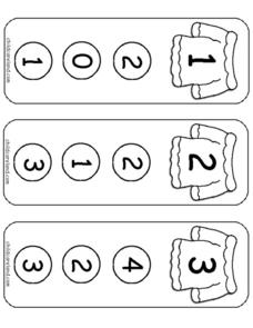 Sweater Number Clothes Pin Cards Worksheet
