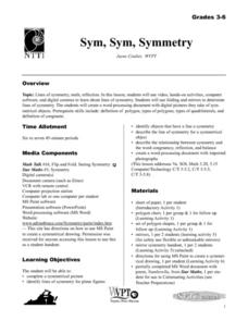 Sym, Sym, Symmetry Lesson Plan