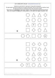 Symbol Puzzles for Math, #2 Lesson Plan