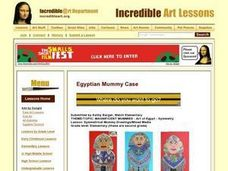 Symmetrical Mummy Drawings/Mixed Media Lesson Plan
