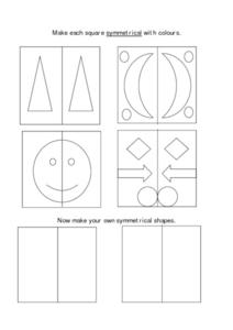 Symmetrical Shapes Worksheet