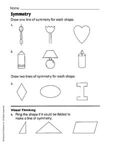 Symmetry in Shapes Worksheet