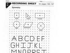 Symmetry Recording Sheets Worksheet