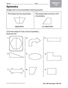 Symmetry: Reteach Worksheet
