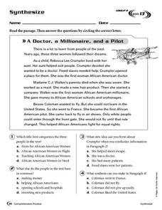 Synthesize: A Doctor, a Millionaire, and a Pilot Worksheet