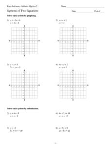 Systems of Two Equations Worksheet