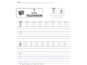 T Is For Television Worksheet