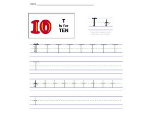 T is for Ten Worksheet