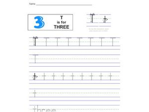 T Is For Three Worksheet