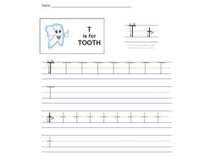 T Is For Tooth Worksheet
