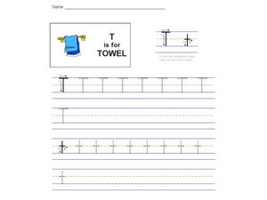 T Is For Towel Worksheet