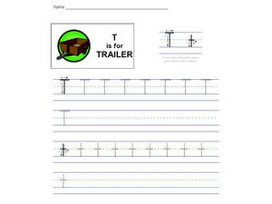 T Is For Trailer Worksheet