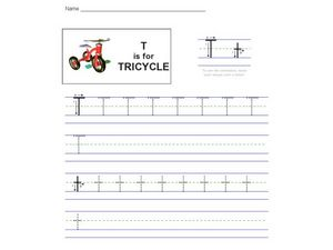 T is for Tricycle Worksheet