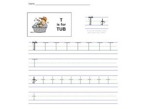 T is for Tub Worksheet
