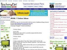 T Letter Ideas Lesson Plan