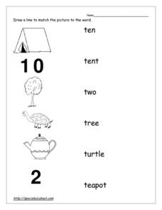 T Words Worksheet