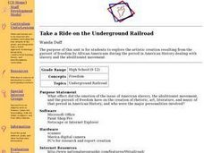 Take a Ride on the Underground Railroad Lesson Plan