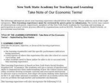 Take Note of Our Economic Terms! Lesson Plan
