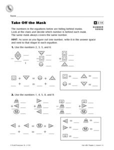 Take Off the Mask Worksheet