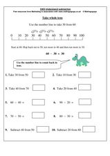 math worksheet : adding and subtracting whole tens worksheet  worksheets for education : Subtracting Tens Worksheet