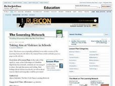 Taking Aim at Violence in Schools Lesson Plan